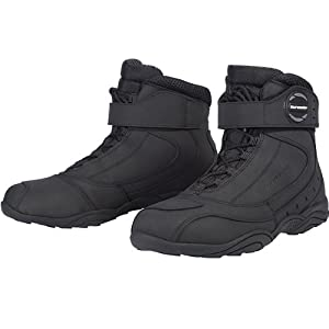 Tour Master Response WP 2.0 Road Men's Leather On-Road Motorcycle Boots - Black / Size 12.5