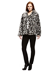 Per Una Animal Print Faux Fur Jacket