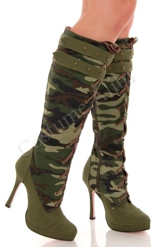 Sergeant Camo Adult Boots Adult (9)