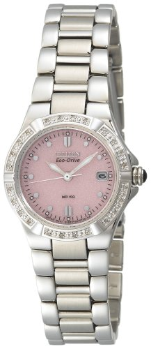 Citizen Women&#8217;s EW0890-58X Eco-Drive Riva Diamond Accented Stainless Steel Watch