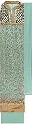 Preety Women's Net Semi Stitched Dress Material (PW051, Green)