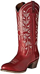 Ariat Women\'s Desert Holly Western Cowboy Boot, Rosy Red, 9 B US