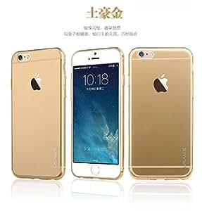"USAMS APPLE IPHONE 6 5.5"" (anti fogging ultra thin soft tsp primary series) BACK CASE ---""TRANSPARENT GOLD"""