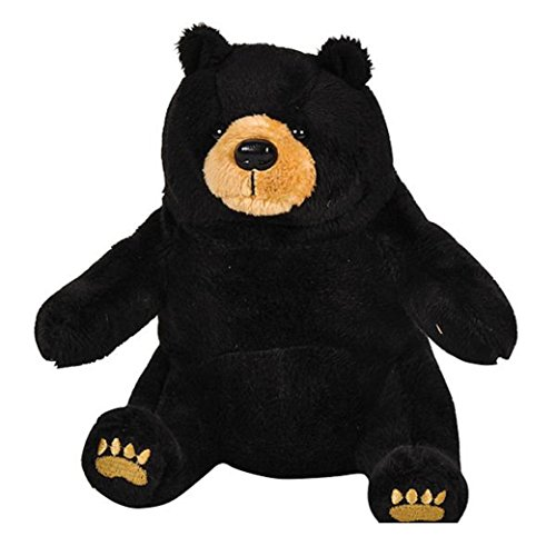 One Realistic Plush Stuffed Animal Black Bear Teddy Bear - 1