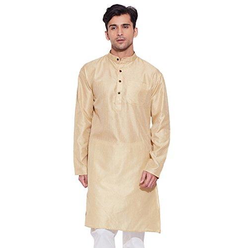 men-full-sleeve-designer-faux-silk-long-kurta-casual-wear-plain-kurta