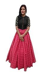 TexStile womens Exclusive Fabric Cotton Embroidery Work Lehenga Choli