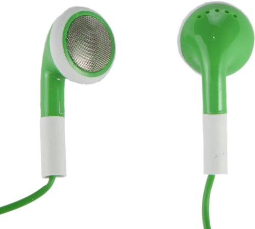 Earbuds With Built-In Remote And Mic- Stylish And Stays Comfortably In Ear (Green)