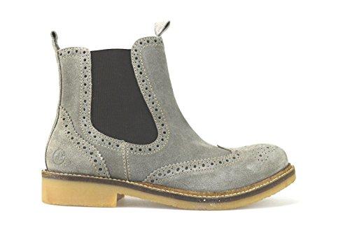 scarpe uomo LUMBERJACK stivaletti beige camoscio AJ69 (41- EU)