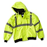 Neon Safety Jacket with Removable Hood