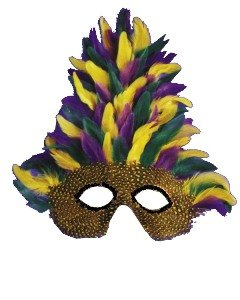 Mask Mardi Gras Tall Feather Accessory