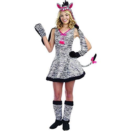 GSG Wild Thang Costume Kids Zebra Animal Hood Halloween Fancy Dress (Wild Thang Zebra Teen Costume)