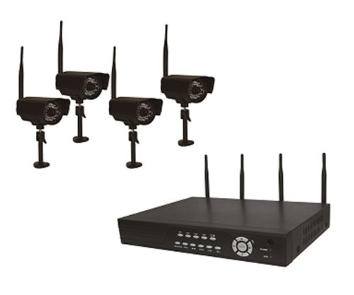 Astrotel DVR-DIG4 2.4GHz H.264 Digital Wireless DVR System with 4 CCD Cameras