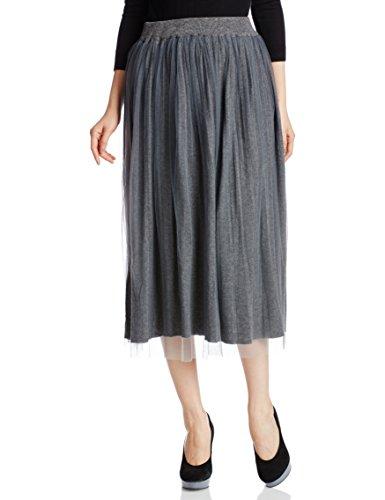 (シュガーローズ)Sugar Rose リバーシブルチュール×ニットプリーツスカート 256905 グレー GRAY F