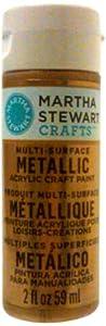 Martha Stewart 33001 2-Ounce Multi-Surface Metallic Acrylic Craft Paint, Rose Gold