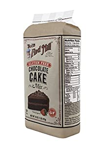 Bob's Red Mill Gluten Free Chocolate Cake Mix, 16-Ounce (Pack of 4) (packaging may vary)