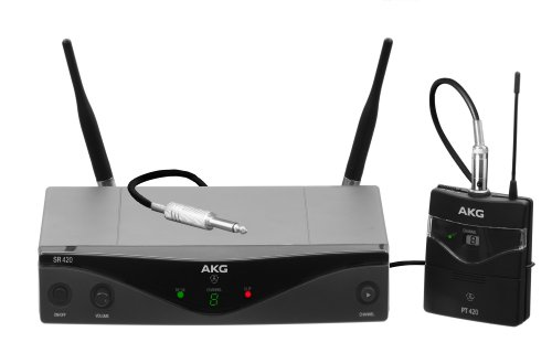 Akg Pro Audio Wms420 Instrumental Band A Wireless Microphone System