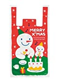 KANARIA ラッピング バッグ 袋 手提げ 50枚入 / 包装 プレゼント/ クリスマス / 大 中 小 (中)