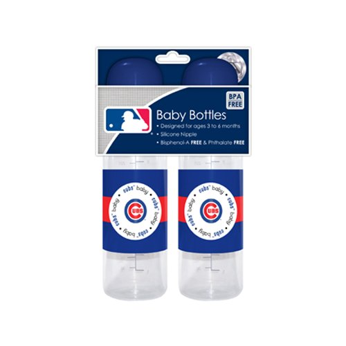Sports MLB Baby Bottles 2 Pack Safe BPA Free (Chicago Cubs) - 1