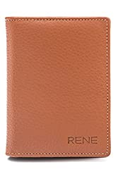 Rene Genuine Leather Tan Color Card Holder with 6 slots