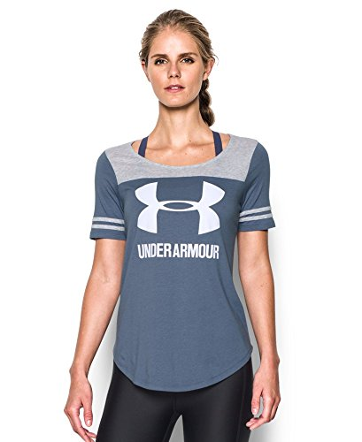 Under Armour Women's UA Graphic Baseball T Large AURORA PURPLE