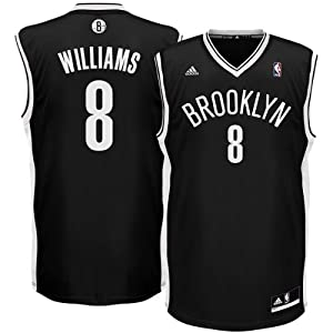 Adidas Brooklyn Nets Deron Williams Youth Jersey Black (Youth Large Size 14-16)