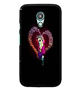 PrintDhaba Typographic Heart D-2720 Back Case Cover for MEIZU M1 NOTE (Multi-Coloured)