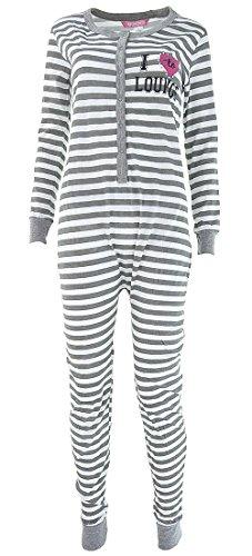 Love Lounge Wear Women's Chill Out Cotton Union Suit Pajamas L