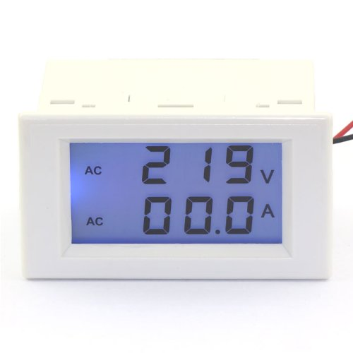 Drok 2-Wires Lcd Digital Volt Amp Voltmeter Dual Dispaly 100-300V/100A Voltag...