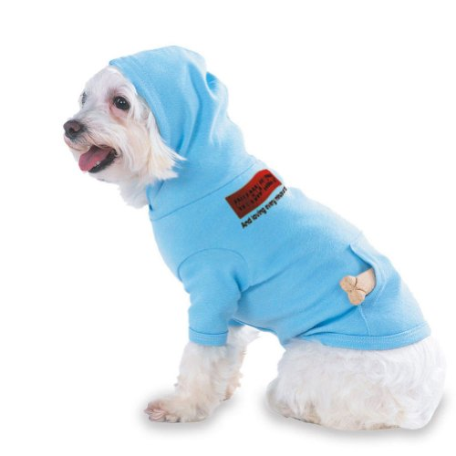 COMIC BOOK COLLECTOR And loving every minute of it Hooded (Hoody) T-Shirt with pocket for your Dog or Cat MEDIUM Lt Blue