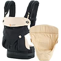 Ergobaby 360 All Carry Positions Bundle of Joy Baby Carrier (Black/Camel)