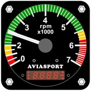 Aviasport Rotax 912 Tachometer / Hourmeter - 3-1/8 In  from AVIASPORT