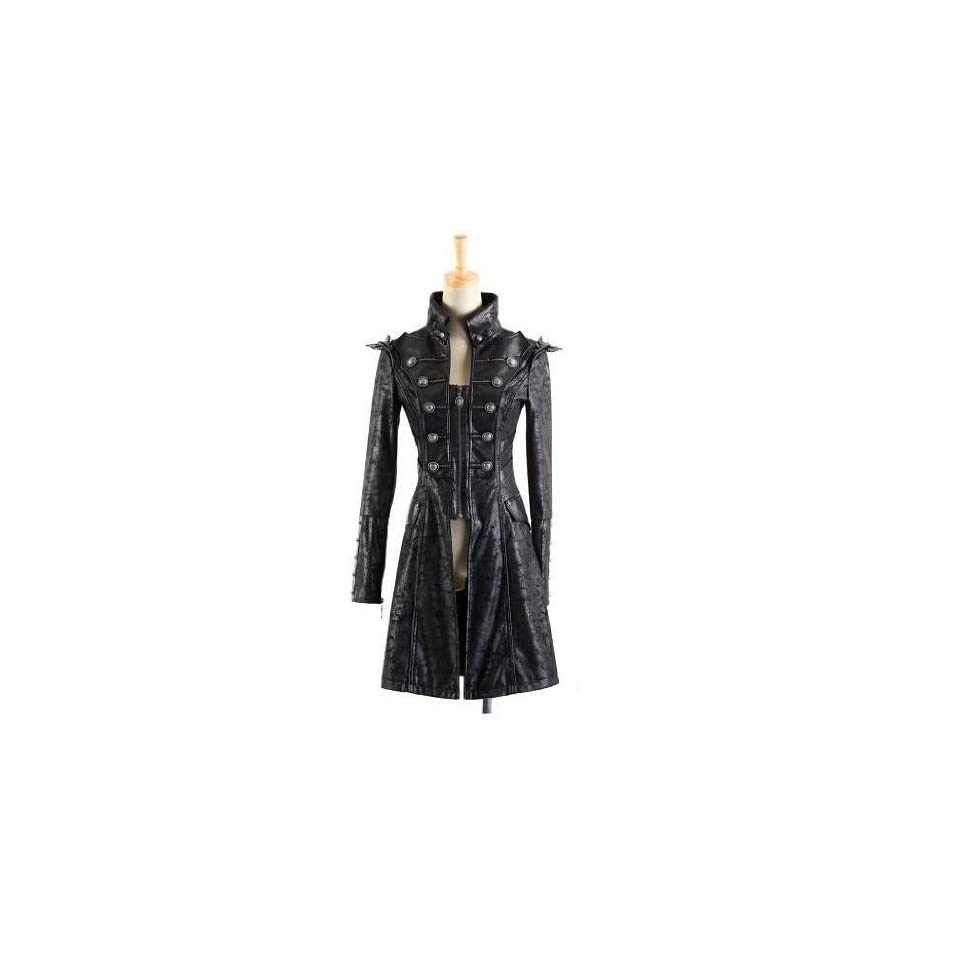 Jacke Mantel Larpmantel Visual Kei Punk Rave Rock Gothic Jacket lang