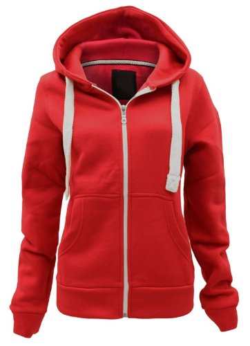 ENVY BOUTIQUE LADIES PLAIN ZIP HOODIE JACKET