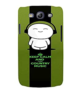 PrintVisa Music Cute Quotes 3D Hard Polycarbonate Designer Back Case Cover for Samsung Galaxy S3