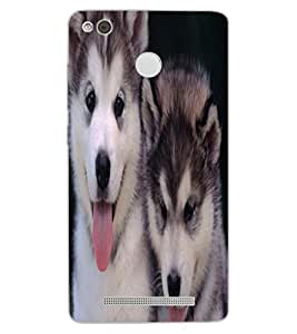 ColourCraft Cute Puppies Design Back Case Cover for XIAOMI REDMI 3X