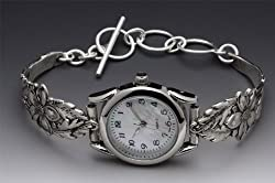 Silver Spoon Women's Rare Watch Unique Columbine