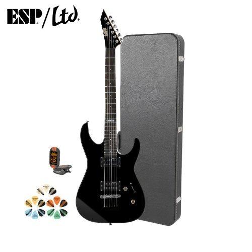 Esp M Jb-M10Kit-Blk-Kit-4 Electric Guitar With Tuner, Picks And Chroma Cast Hard Case - Black