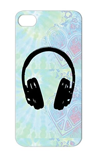 Shock Absorption Dance Electronica Music Headphones Black Cover Case For Iphone 5/5S