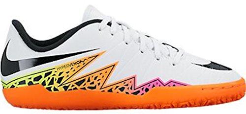 Nike Jr. Hypervenom Phelon II IC Indoor Soccer Shoe (White, Total Orange, Volt) Sz. 4.5Y