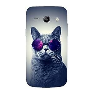 Designer Phone Case Cover for SamsungCorePlus Cat With Glares