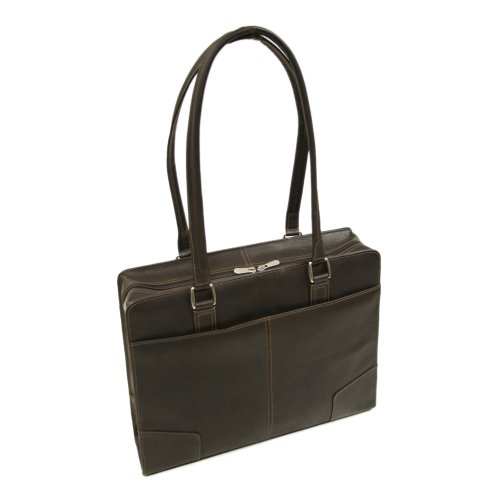 Piel Leather Hardside Shoulder Tote, Chocolate, One Size