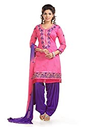 Ethnic For You Women's Cotton Salwar Suit Dress Material(ETH5950_Pink)