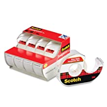 Scotch Transparent Tape, 3/4 in x 850 Inches, 4 Rolls (4814)