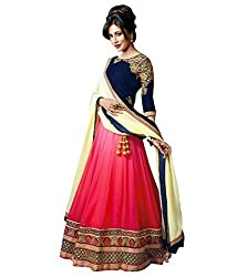 Success Women's Designer Party Wear Dresses Bollywood New Collection Sale Pink & Blue Georgette Embroidered Heavy Bridal Wedding Lehenga ghagra Choli