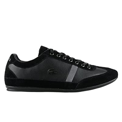 Lacoste Misano 22 Leather Sneakers - Black (Mens) - 8