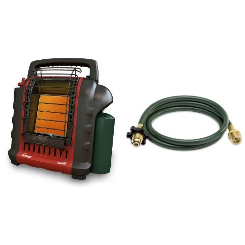 Mr. Heater F232000 MH9BX Buddy 4,000-9,000-BTU Indoor-Safe Portable Radiant Heater and Mr. Heater Buddy Series Hose Assembly - 10-ft., Model# F273704 Bundle (Buddy Heater Mh9bx compare prices)