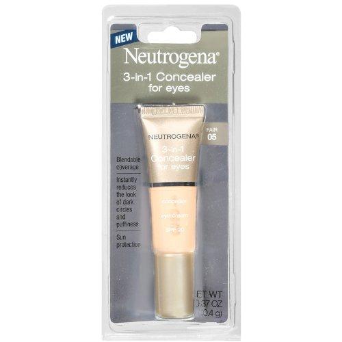 Neutrogena 3-in-1 Concealer For Eyes, SPF 20, Fair 05, 0.37 Ounce