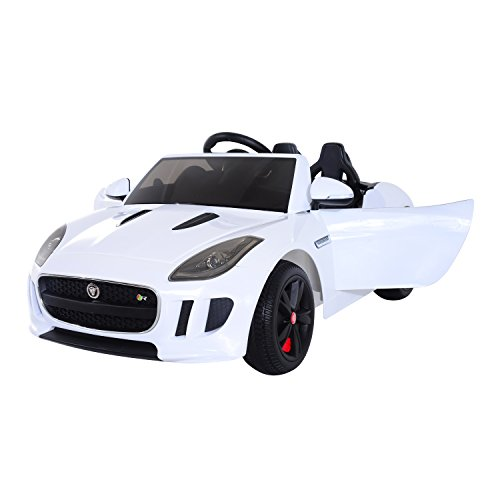 Aosom 12V Jaguar F Type Convertible Kids Electric Ride On Car with MP3 and Remote Control - White (Battery Powered Two Seater Car compare prices)