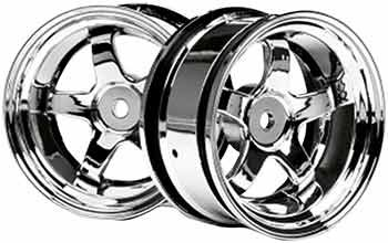 Hpi Racing 3592 Work Meister S1 26Mm Wheels, 6Mm Offset, Chrome