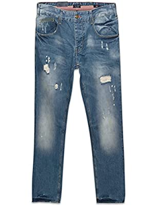 Armani Jeans Denim J23 Slim Fit Jeans Rip Effect Light Blue Wash